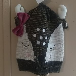 New, gorgeous, toddler Deer Face Hat